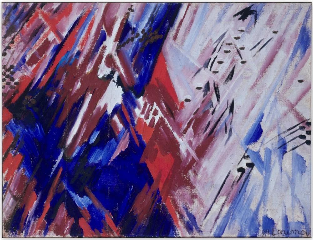 Красный и Синий лучизм (пляж) - Михаил Федорович Ларионов (1911)