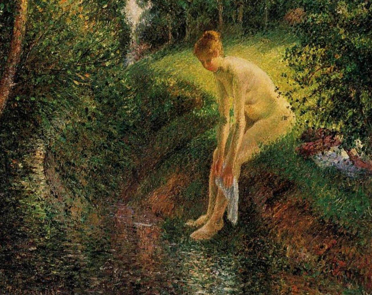 Купальщица в лесу - Камиль Писсарро (1895)