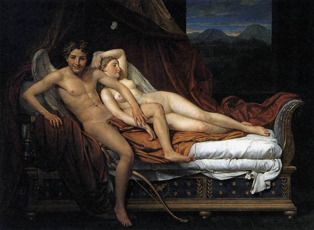Купидон и Психея - Жак Луи Давид (1817)