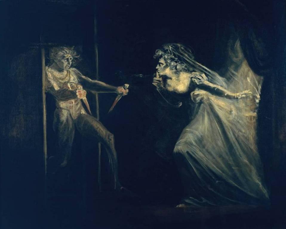 Леди Макбет с кинжалами - Генрих Фюcсли (1812)