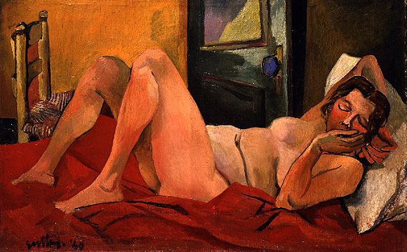 Лежащая обнаженная - Ренато Гуттузо (1940)