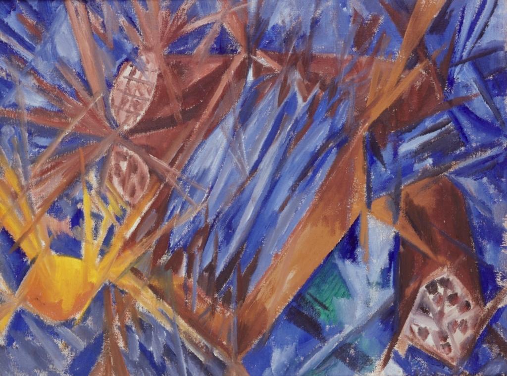 Лучистая скумбрия и колбаса - Михаил Федорович Ларионов (1912)
