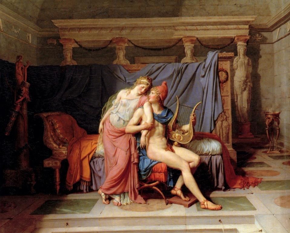 Любовь Париса и Елены - Жак Луи Давид (1788)