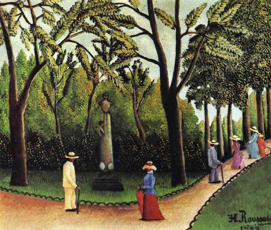 Люксембургский сад памятник Шопену - Анри Руссо (1909)