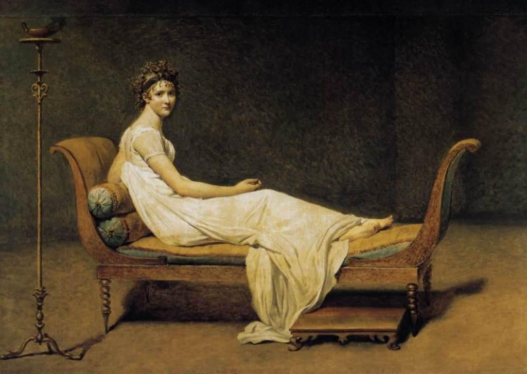 Мадам Рекамье - Жак Луи Давид (1800,Лувр, Париж)