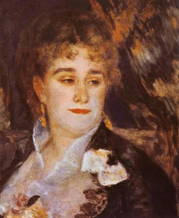 Мадам Шарпантье - Пьер Огюст Ренуар (1876-1877, Музей д'Орсэ, Париж )