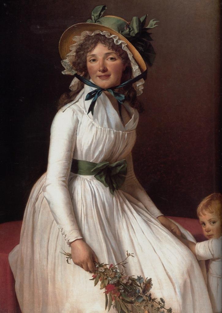 Мадам Серизья - Жак Луи Давид (1795,Лувр, Париж)