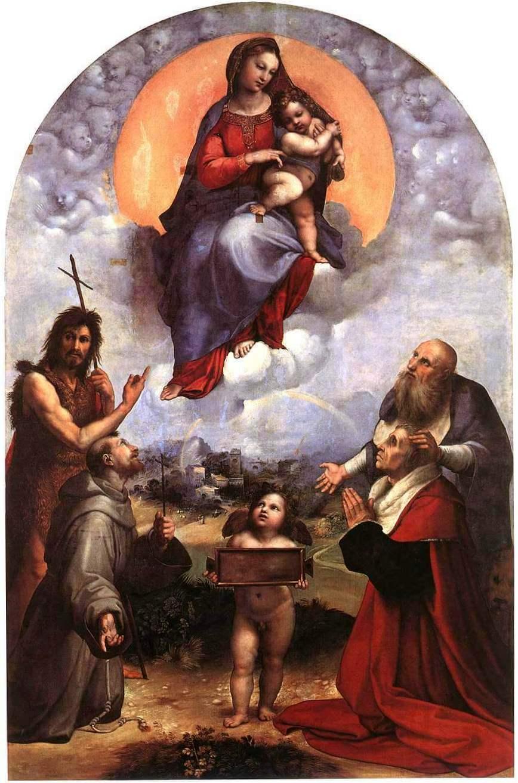 Мадонна Фолиньо - Рафаэль Санти (1511-1512, Музеи Ватикана)