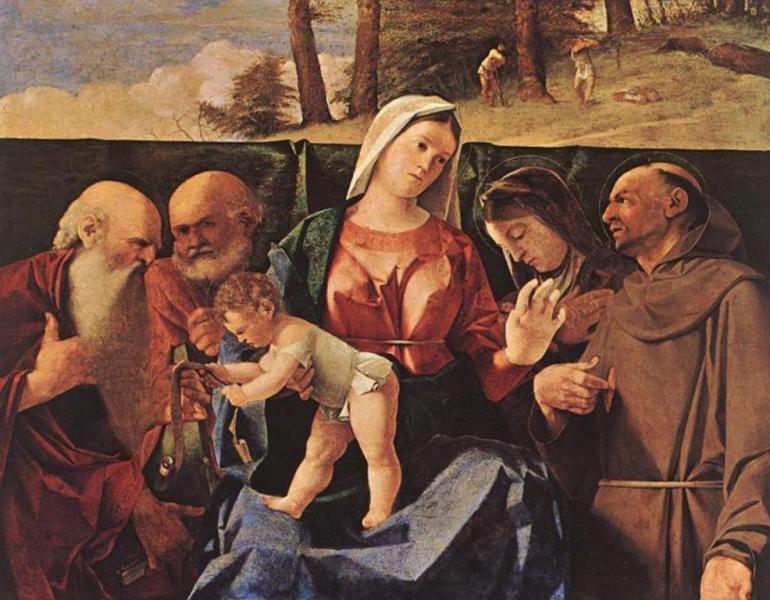 Мадонна с младенцем и святые - Лоренцо Лотто (1503, Национальный галерея и музей Каподимонте, Неаполь)