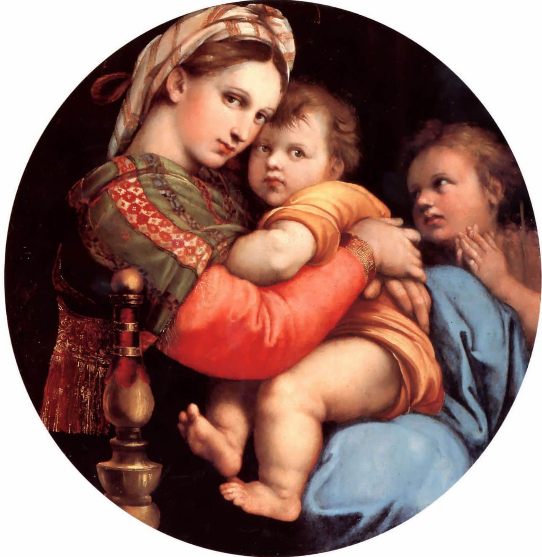 Мадонна в кресле - Рафаэль Санти (1514, Палаццо Питти, Флоренция)
