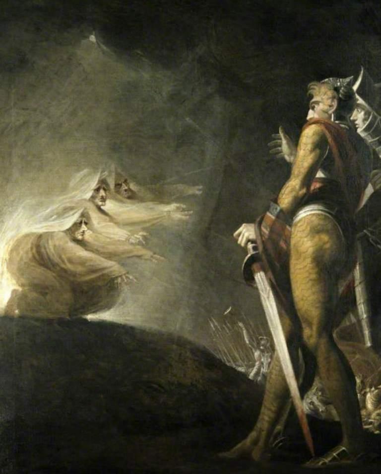 Макбет Банко и Ведьмы - Генрих Фюcсли (1794)