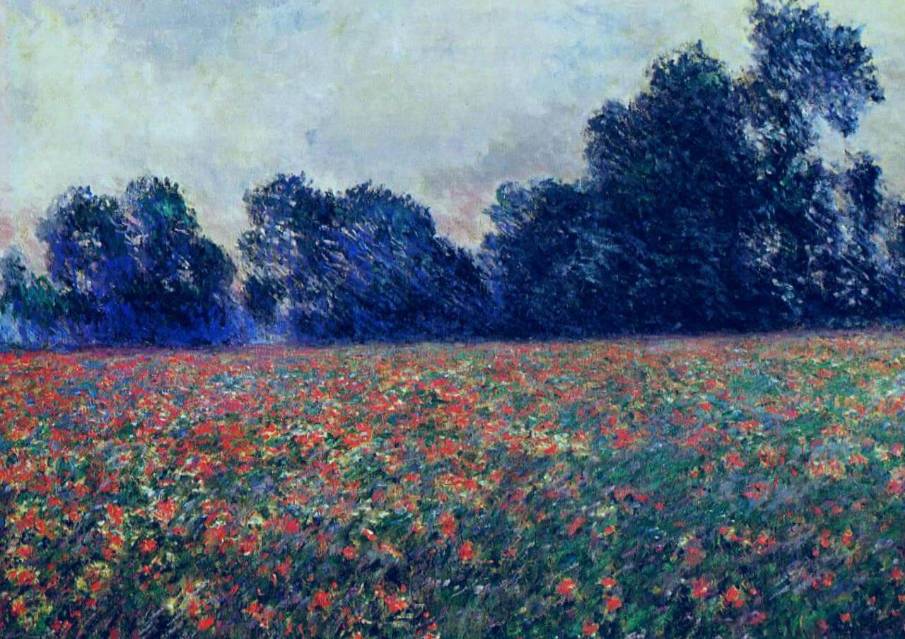 Маки - Клод Моне (1887, Музей д'Орсэ, Париж )