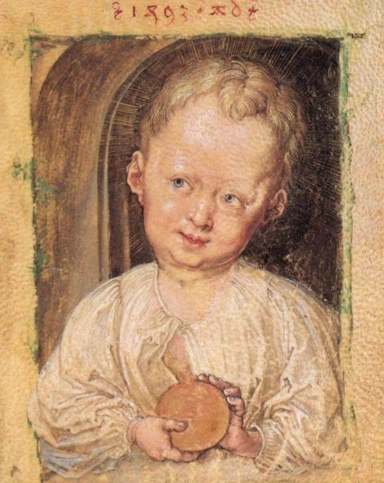 Маленький Иисус с глобусом - Альбрехт Дюре (1493)