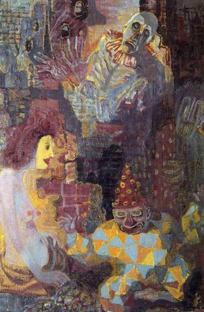 Маски в руинах - Отто Дикс (1946)