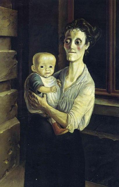 Мать и дитя - Отто Дикс (1921)