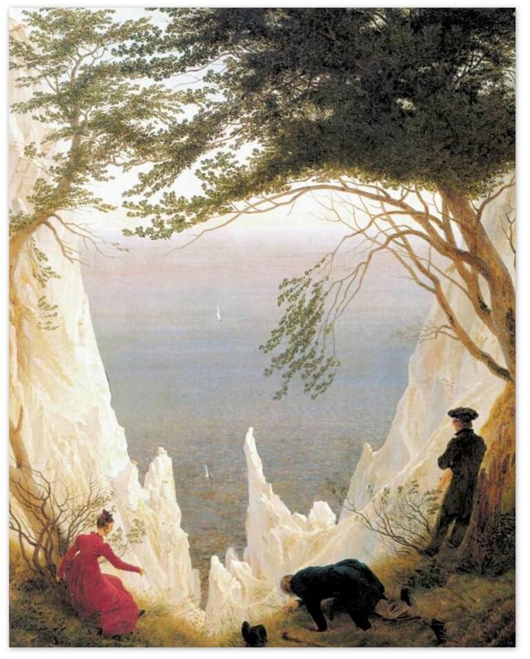Меловые скалы на острове Рюген - Каспар Давид Фридрих (1818)