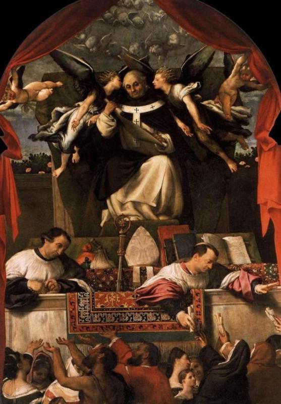 Милостыня Святого Антония - Лоренцо Лотто (1542, Санти-Джованни-Паоло )