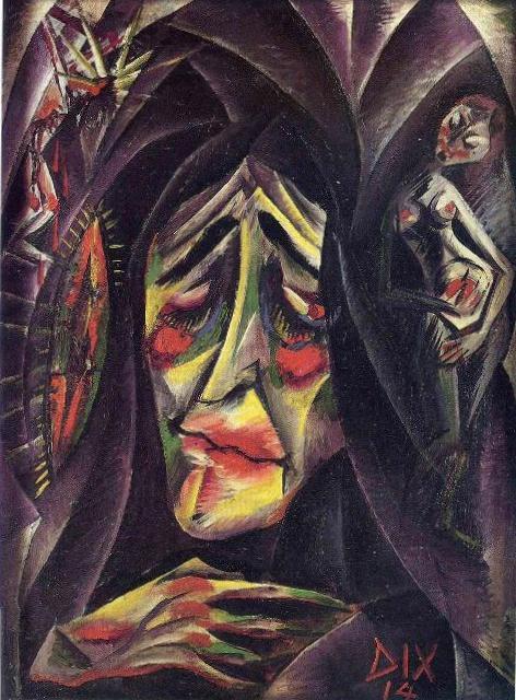 Монахиня- Отто Дикс (1914)
