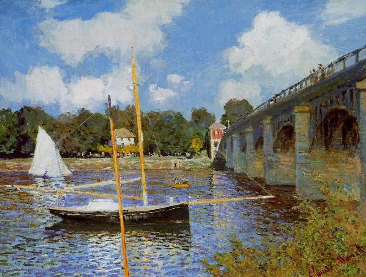 Мост в Аржантёе - Клод Моне (1874, Музей д'Орсэ, Париж)