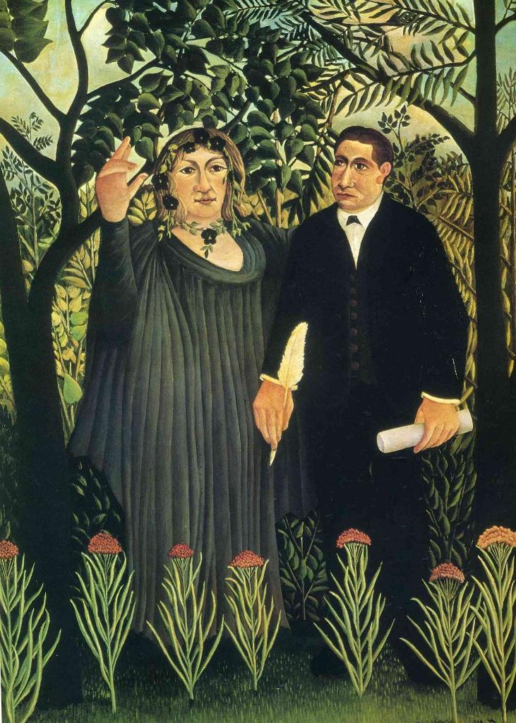 Муза вдохновляющая поэта - Анри Руссо (1909)