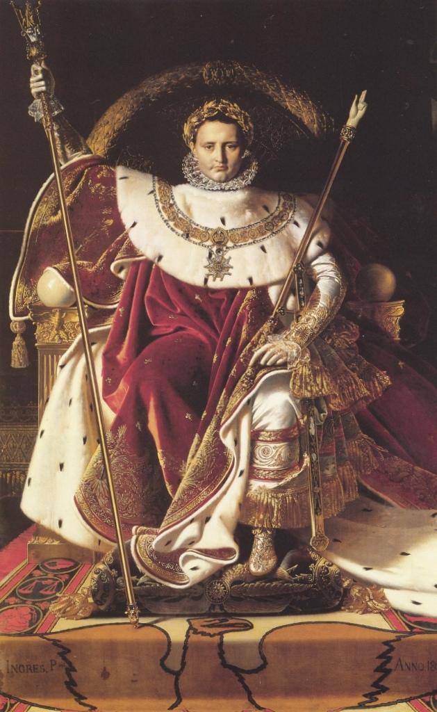Наполеон на императорском троне - Жан Огюст Доминик Энгр (1806, Музей Армии, Париж)