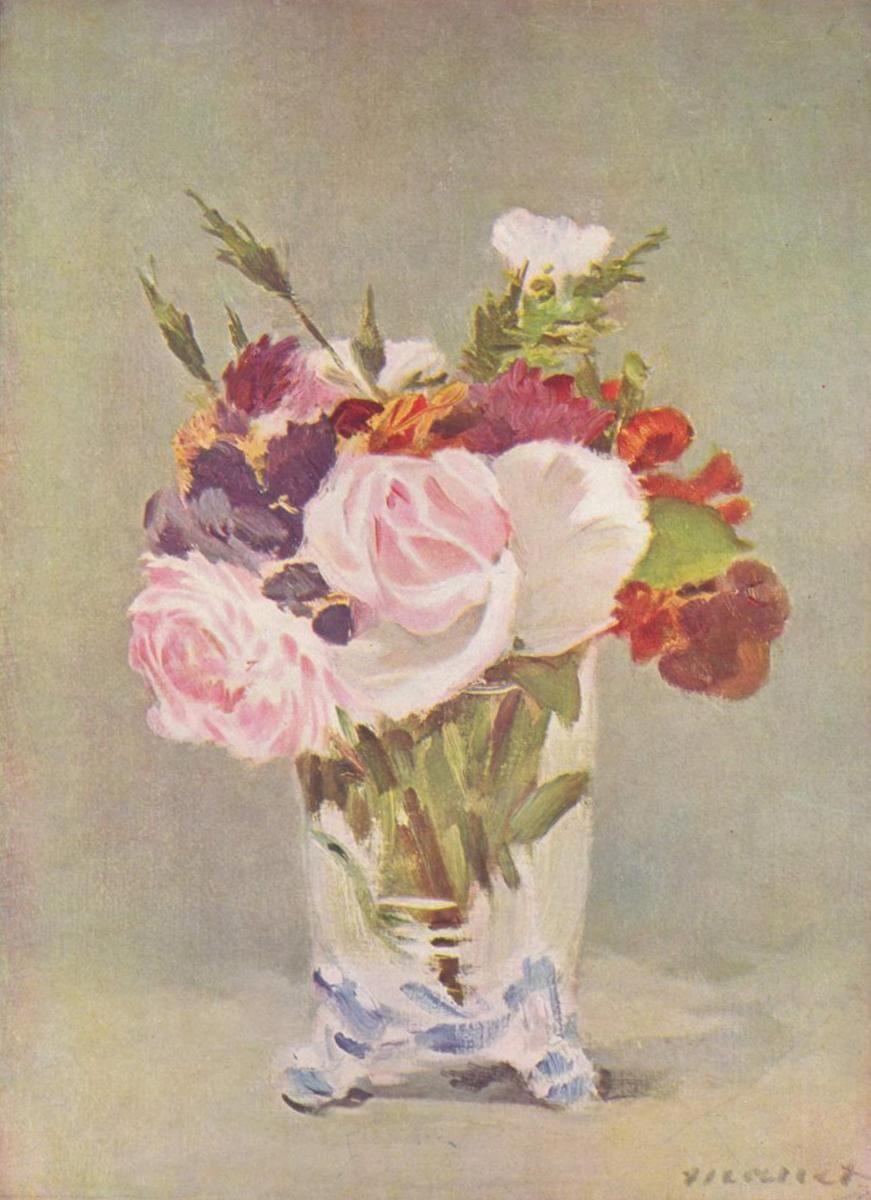 Натюрморт с цветами - Эдуар Мане (1880)