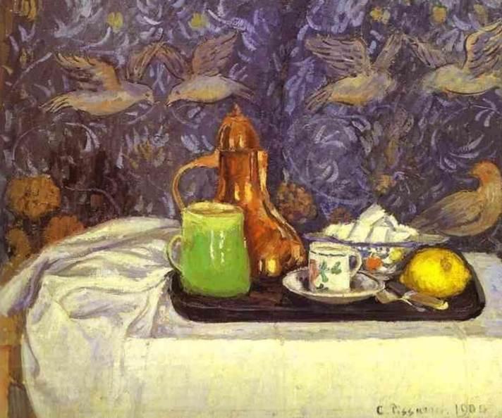 Натюрморт с кофейником - Камиль Писсарро (1900,Музей Пти Пале)