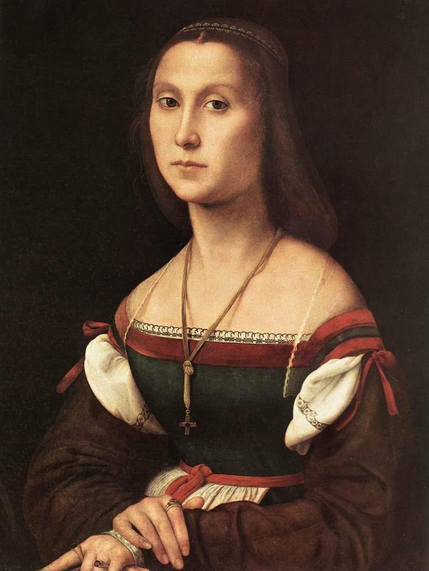 Немая - Рафаэль Санти (ок. 1507, Национальная галерея Марке, Урбино)