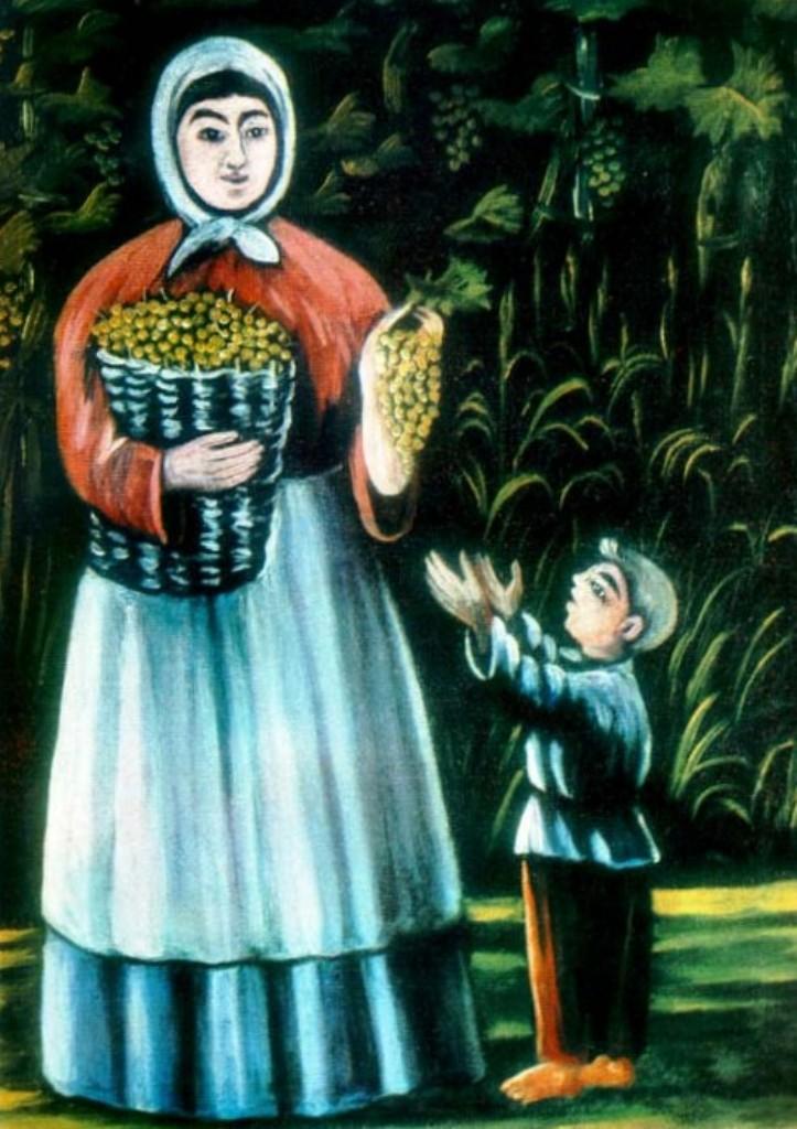 Нико Пиросмани - Мать и дитя