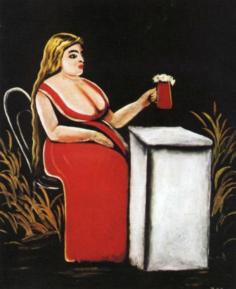 Нико Пиросмани - Женщина с бокалом пива