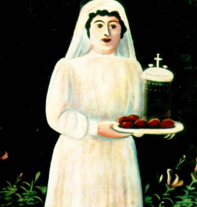Нико Пиросмани - Женщина с подносом