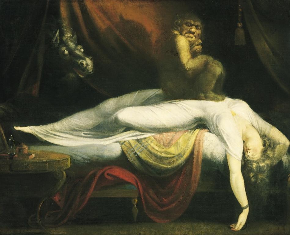 Ночной кошмар - Генриха Фюcсли (1781, Музей Гете, Франкфурт-на-Майне)