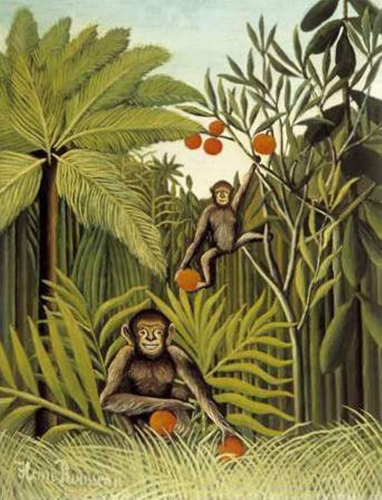 Обезьяны в джунглях - Анри Руссо (1909)