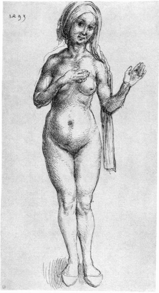 Обнаженная - Альбрехт Дюре (1493)