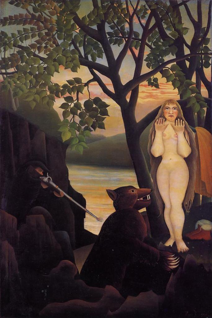 Обнаженная с медведем - Анри Руссо(1901)
