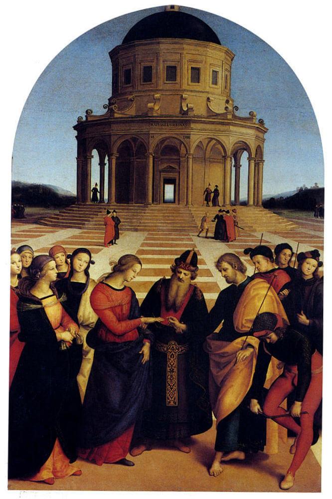 Обручение Девы Марии - Рафаэль Санти (1504, Галерея Брера, Милан)