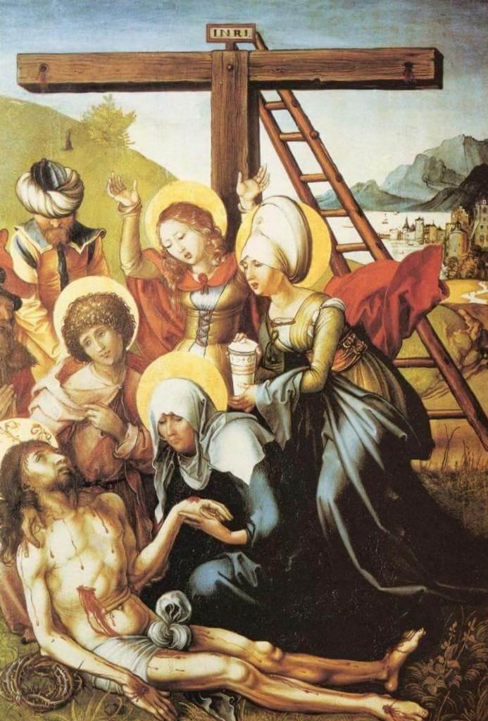 Оплакивание - Альбрехт Дюре (1494 -1497)