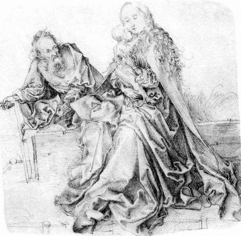 Отдых на пути в Египет - Альбрехт Дюре (1490 -1494)
