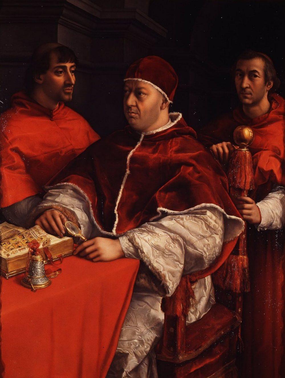Папа Лев Х - Рафаэль Санти (1518—1519, Галерея Уффици, Флоренция)
