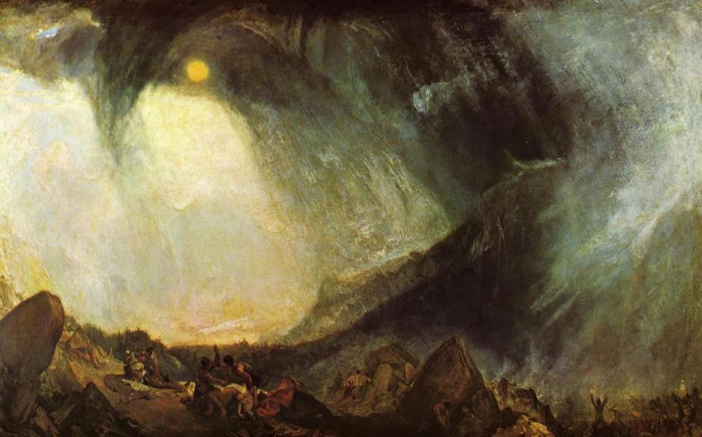 Переход Ганнибала через альпы - Уильям Тёрнер (1812)