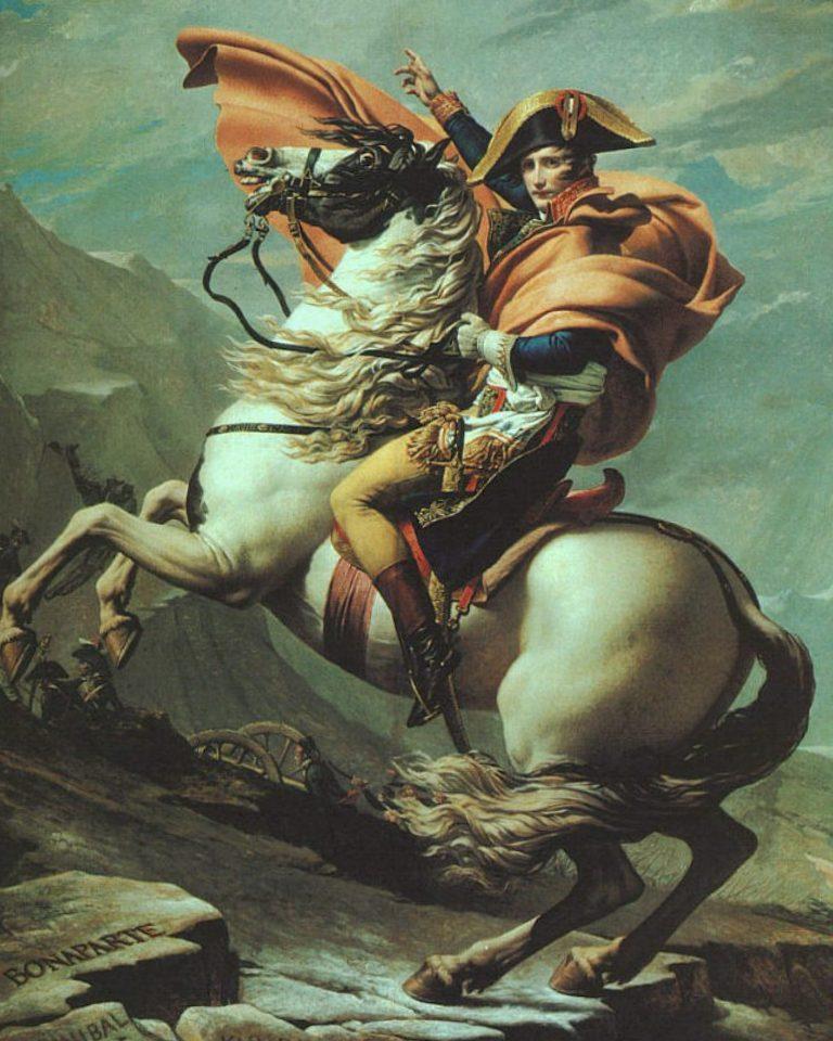 Переход Наполеона через Альпы по перевалу Сен-Бернар - Жак Луи Давид (1800, Шарлоттенбург, Берлин)