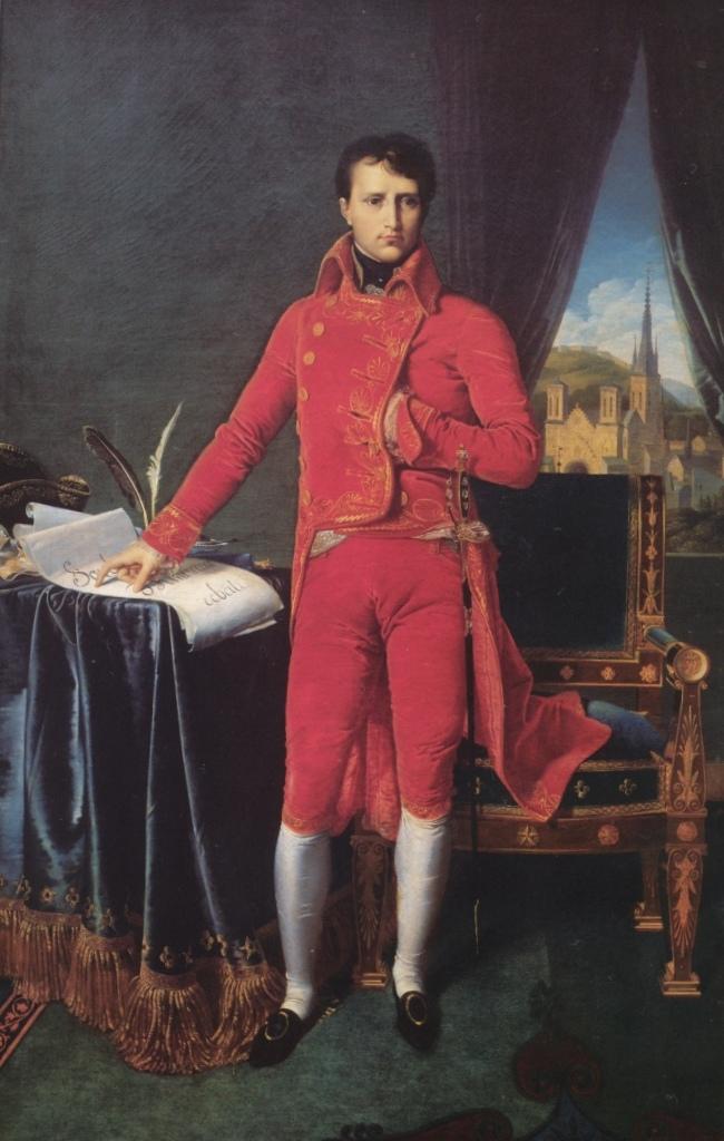 Первый консул Наполеон - Жан Огюст Доминик Энгр (1804)