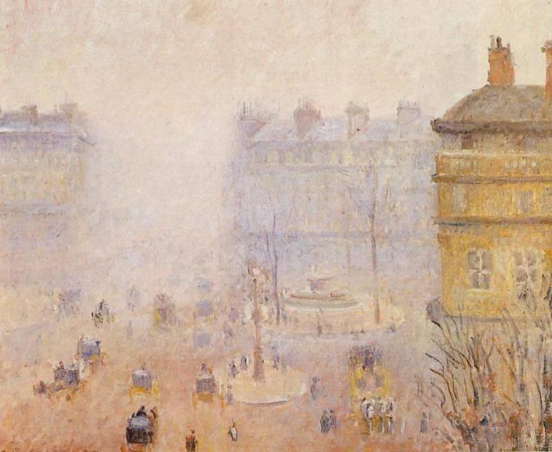 Площадь Французского театра - Камиль Писсарро (1898, Музей, Реймс)