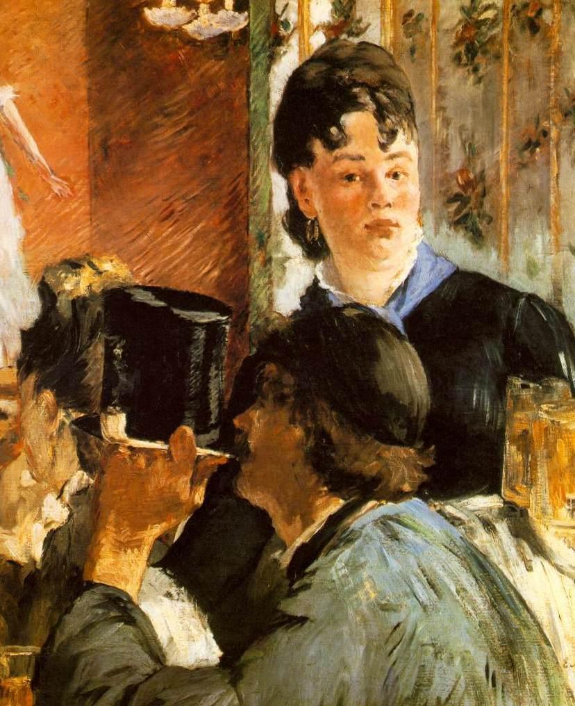 «Подавальщица пива» - Эдуар Мане (1879, Музей д'Орсэ, Паиж)
