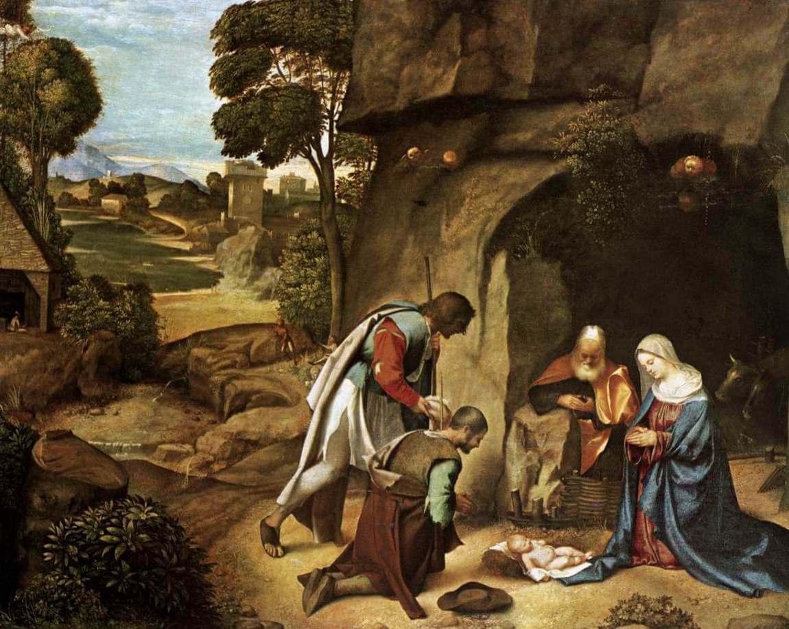 Поклонение пастухов - Джорджоне (Национальная галерея искусства, Вашингтон)