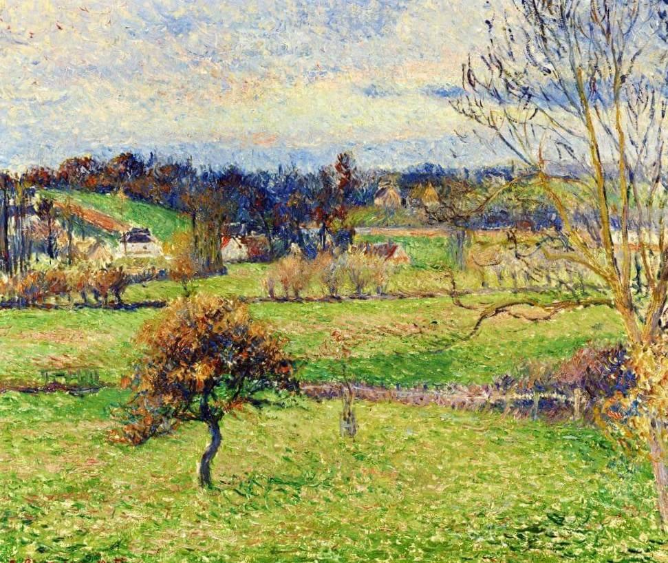 Поле в Эрани - Камиль Писсарро (1885)
