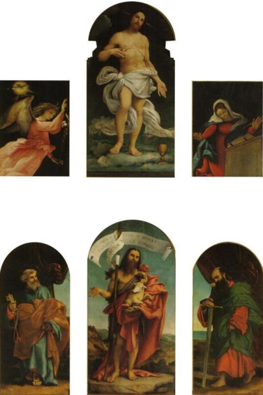 Полиптих церкви Понтераника - Лоренцо Лотто (1527)
