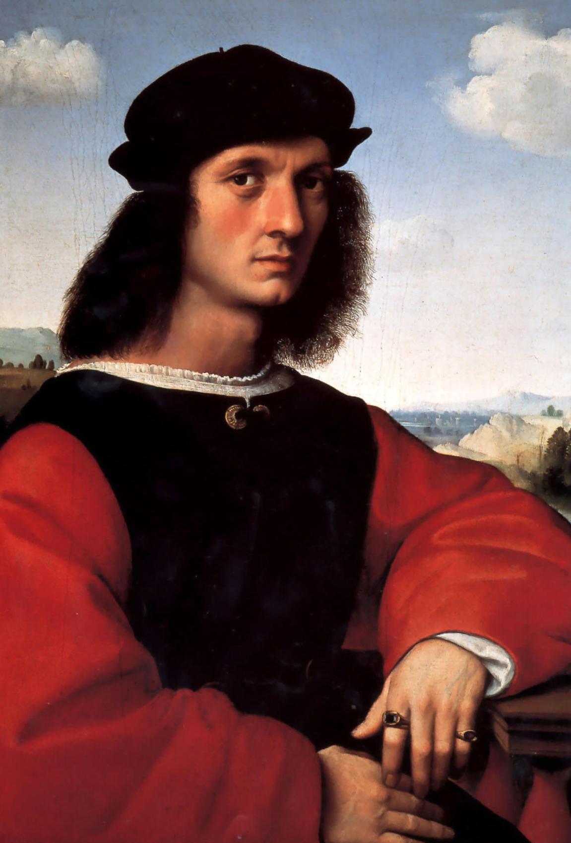 Портрет Аньоло Дони - Рафаэль Санти (1506, Палаццо Питти, Флоренция)