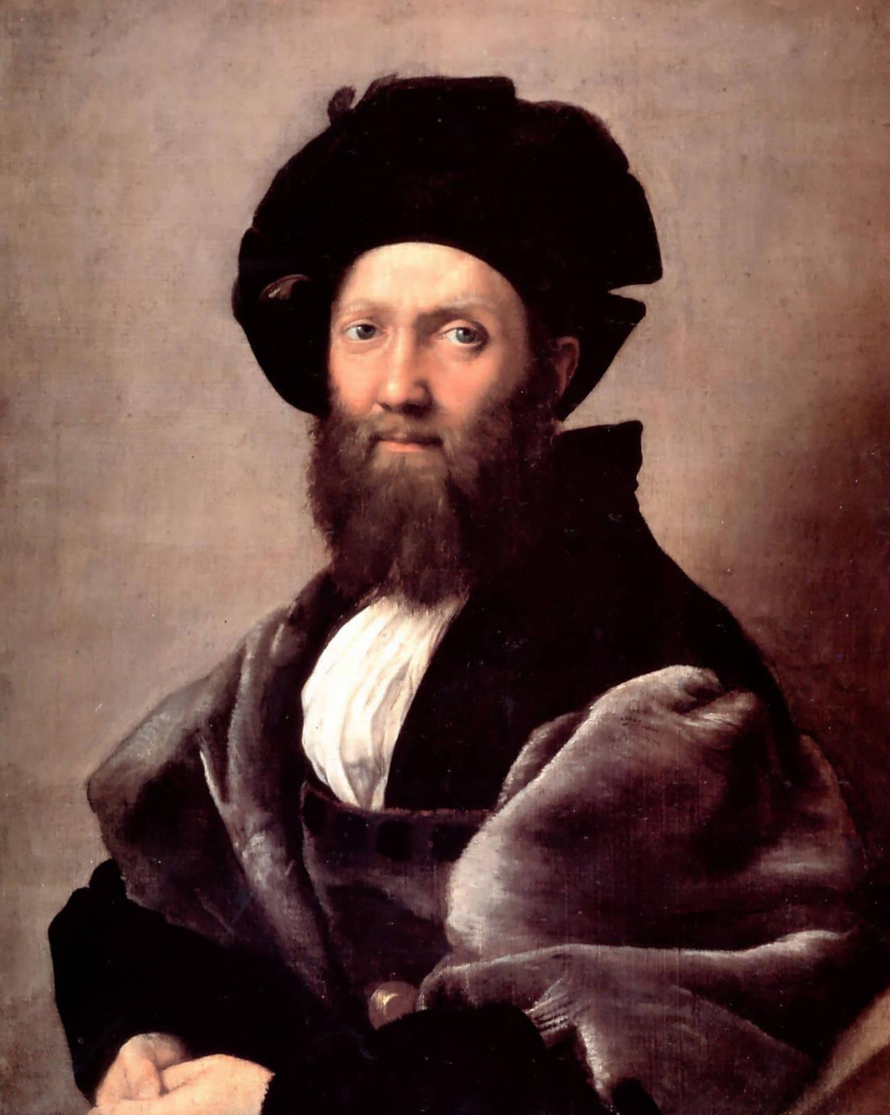 Портрет Бальдассаре Кастильоне - Рафаэль Санти (1514—1515, Лувр, Париж)