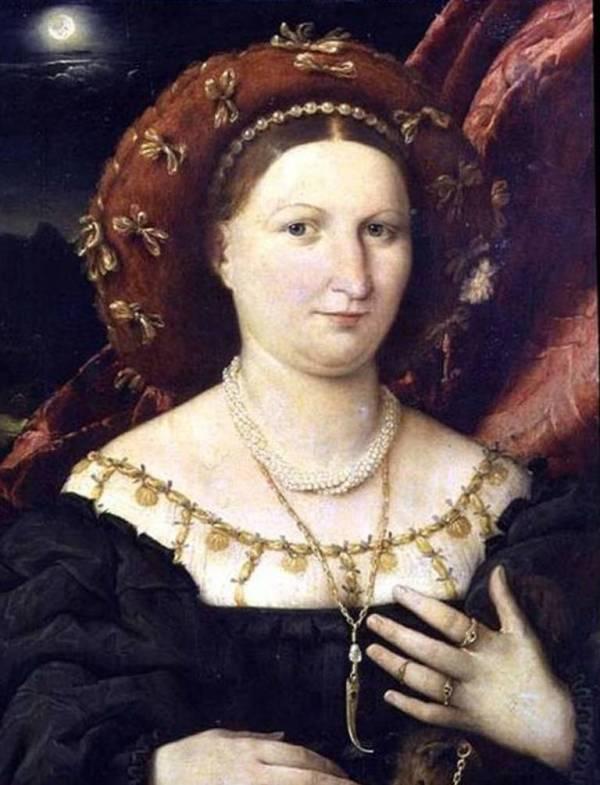 Портрет Люпины Брембате - Лоренцо Лотто (ок. 1520,Академия Каррара, Бергамо)